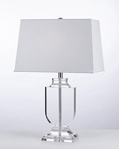 Crystal urn table lamp with white shade modern glass contemporary modern lamp deskbedsideliving roomfor bedroombuffet