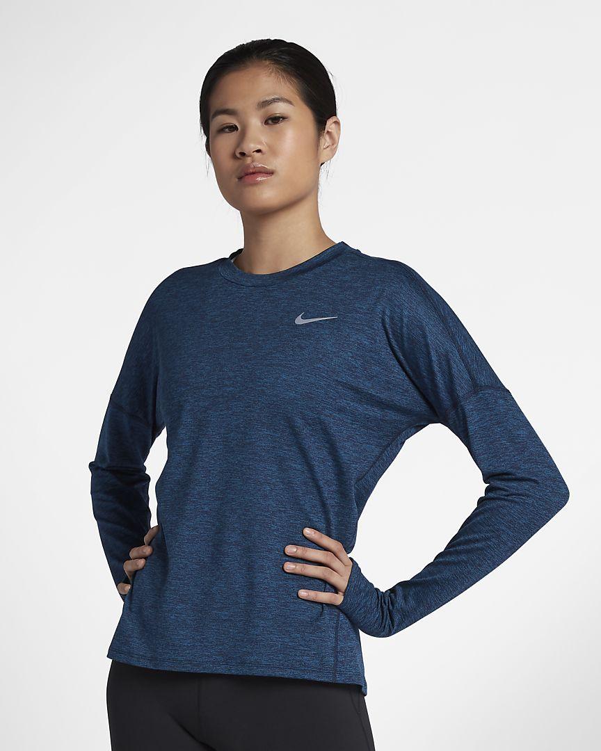 Nike drifit element womens long sleeve running top