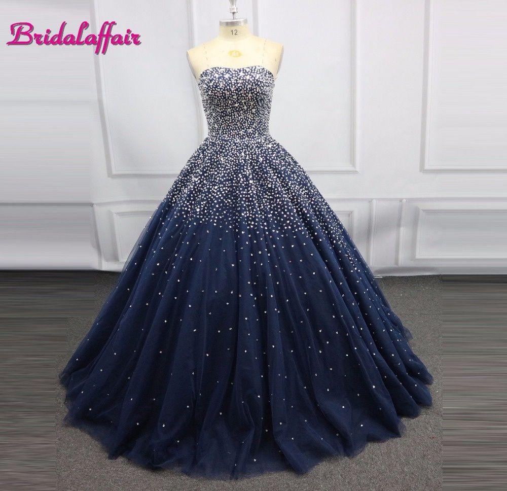 Navy Blue Luxury Beading Big Ball Gown Wedding Dress Photo Brilliant Pink Wedding Dresses R Ball Gown Wedding Dress Navy Blue Wedding Dress Navy Wedding Dress [ 968 x 1000 Pixel ]