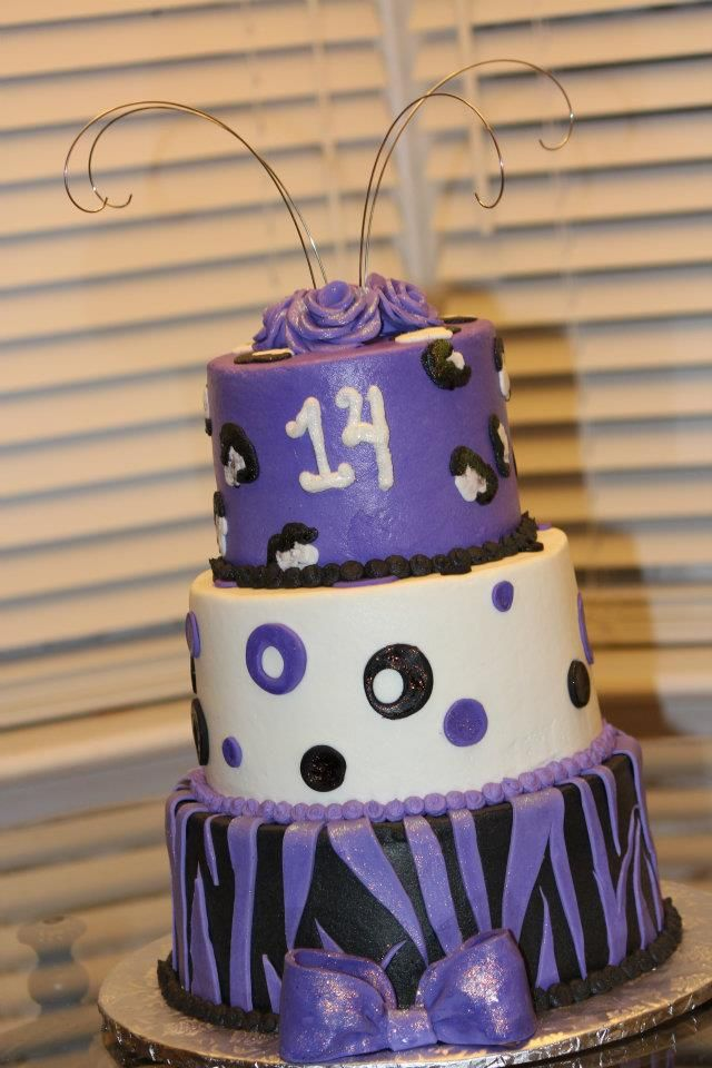 Marvelous 14Th Birthday Cake With Images 14Th Birthday Cakes Birthday Personalised Birthday Cards Veneteletsinfo