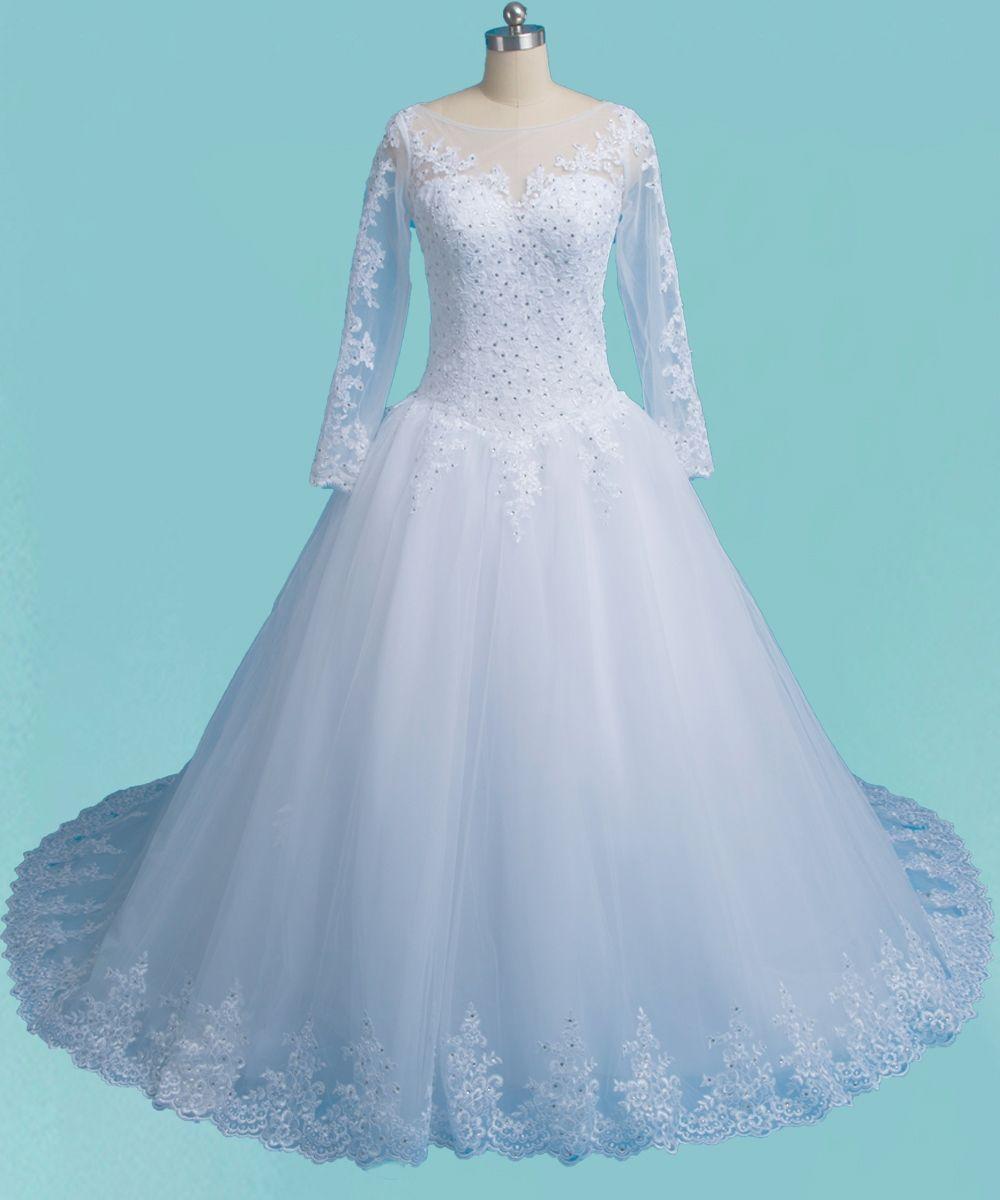 2017 Romantic Princess Ball Gown Arabic Wedding Dress Very Puffy ...