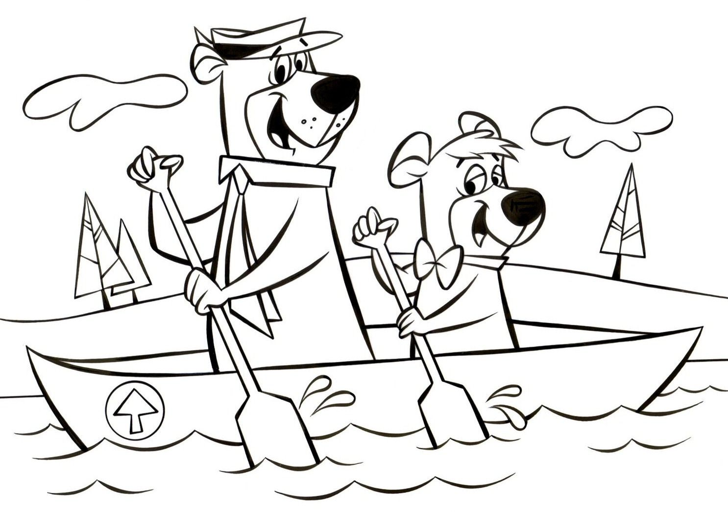 Love Booboo Bear Coloring Pages Coloring Pages Yogi Bear