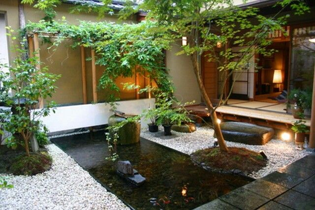 Low Maintenance Japanese Style Garden. Shallow Water Feature Means No Fencing Yet Kids Can Still G… | Zen Garden Design, Japanese Garden Design, Garden Pond Design
