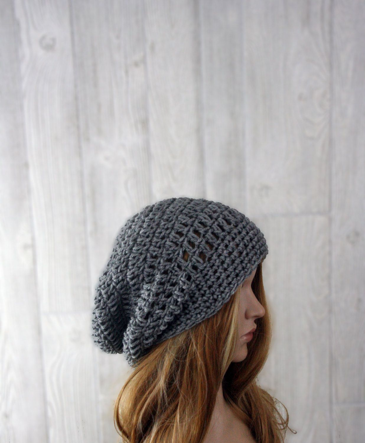 56f97589104 Crochet Slouchy Beanie Hat for Women and Men