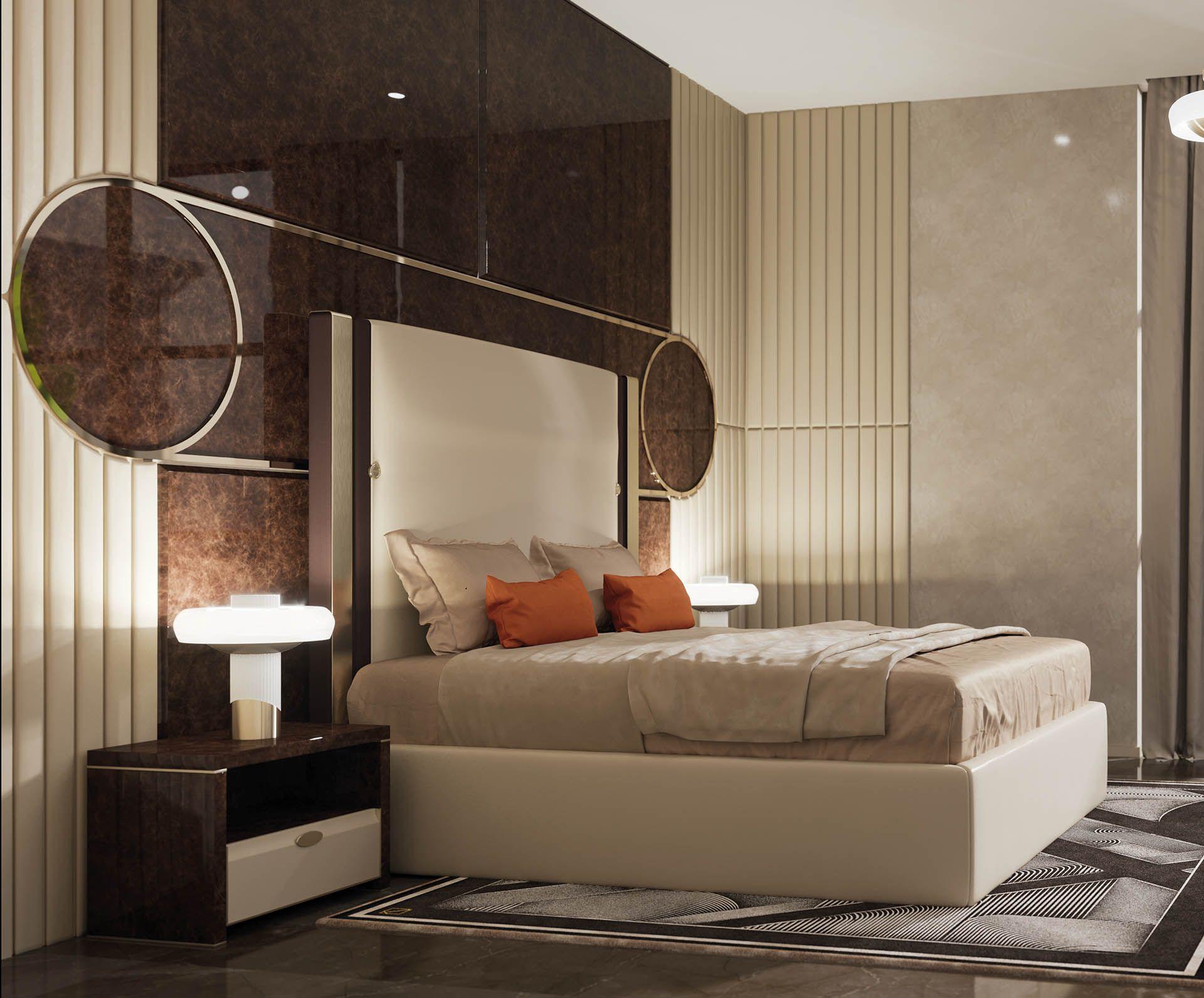 Plaza Bed Italian luxury bedroom Italian furniture