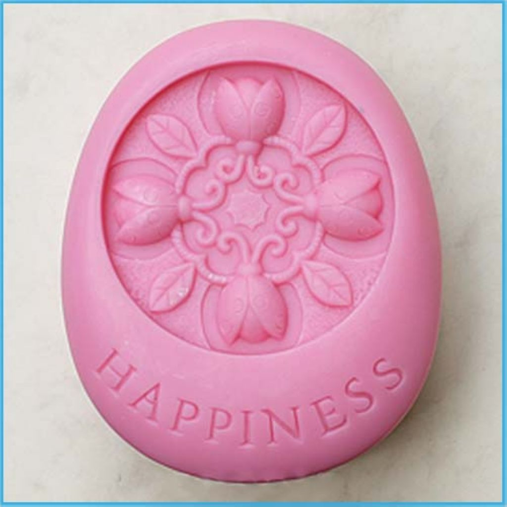 Happiness s silicone soap mold craft molds diy handmade soap