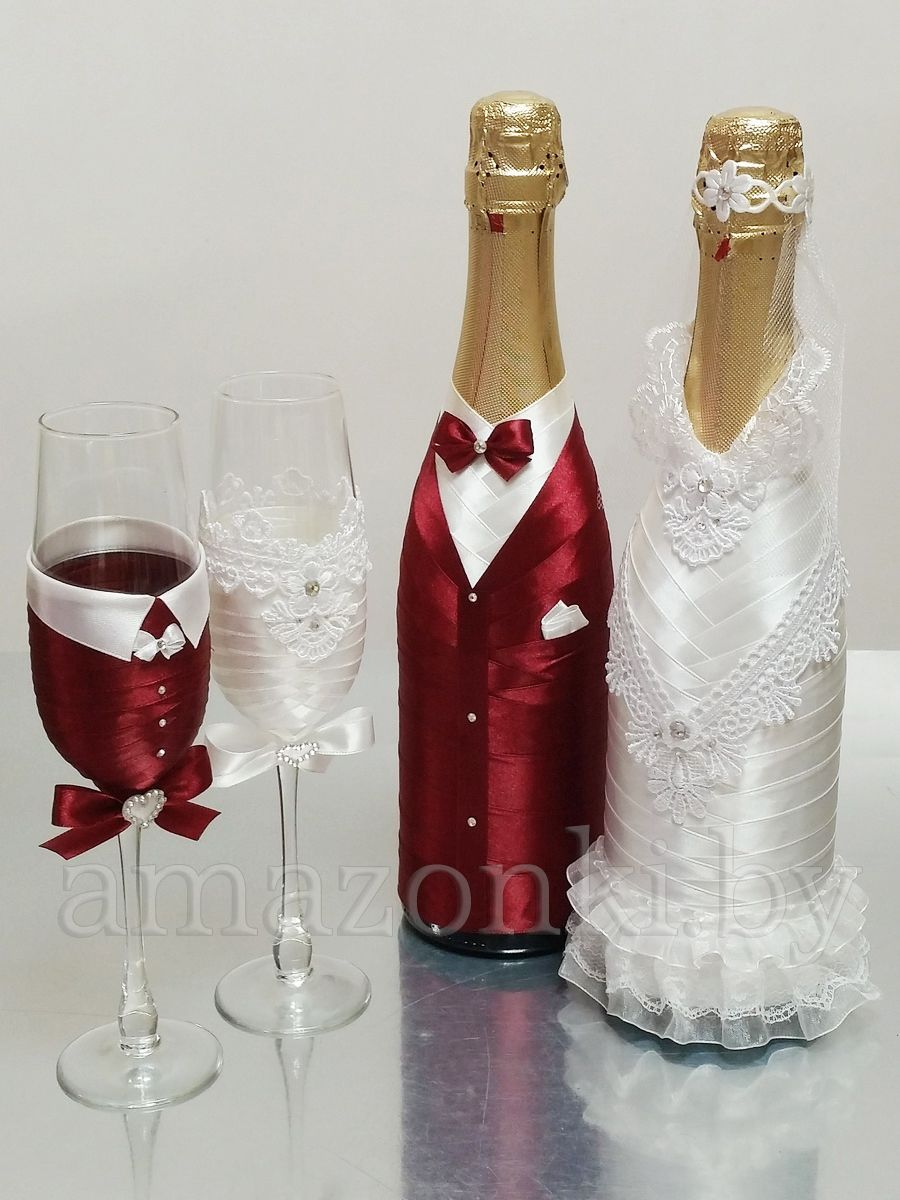 Botellas De Vidrio Decoradas Para Boda Украшение свадебных бокалов Пара Агентство Амазонки Copas