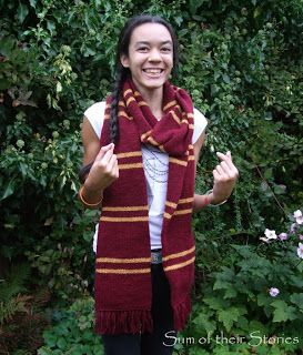 harry potter scarf pattern sum of their stories craft blog harry potter scarf harry potter scarf pattern harry potter knit harry potter scarf pattern sum of