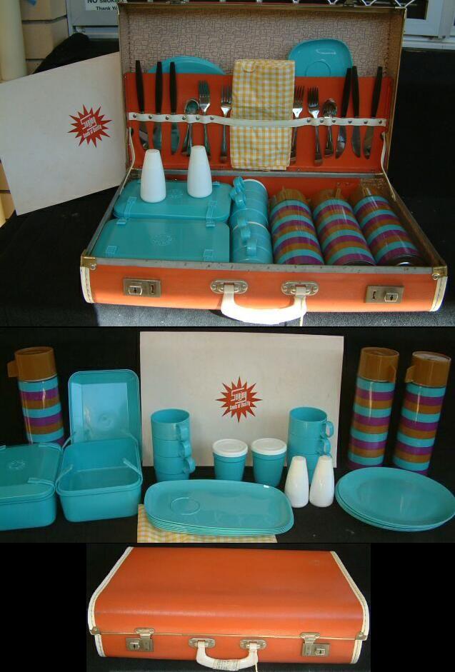 Vintage aqua picnic set.... | Melmac and Melamine and Melmex and ...