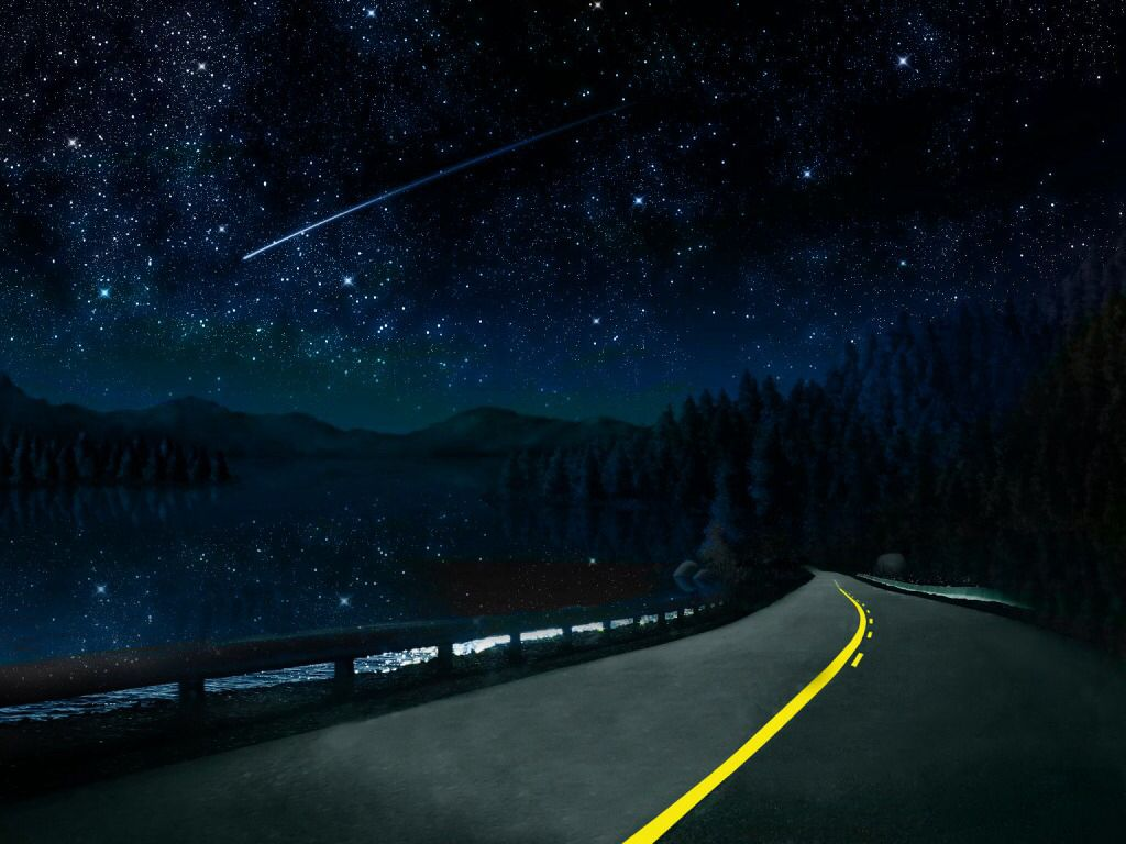 Driving through the night this is all I want to see....