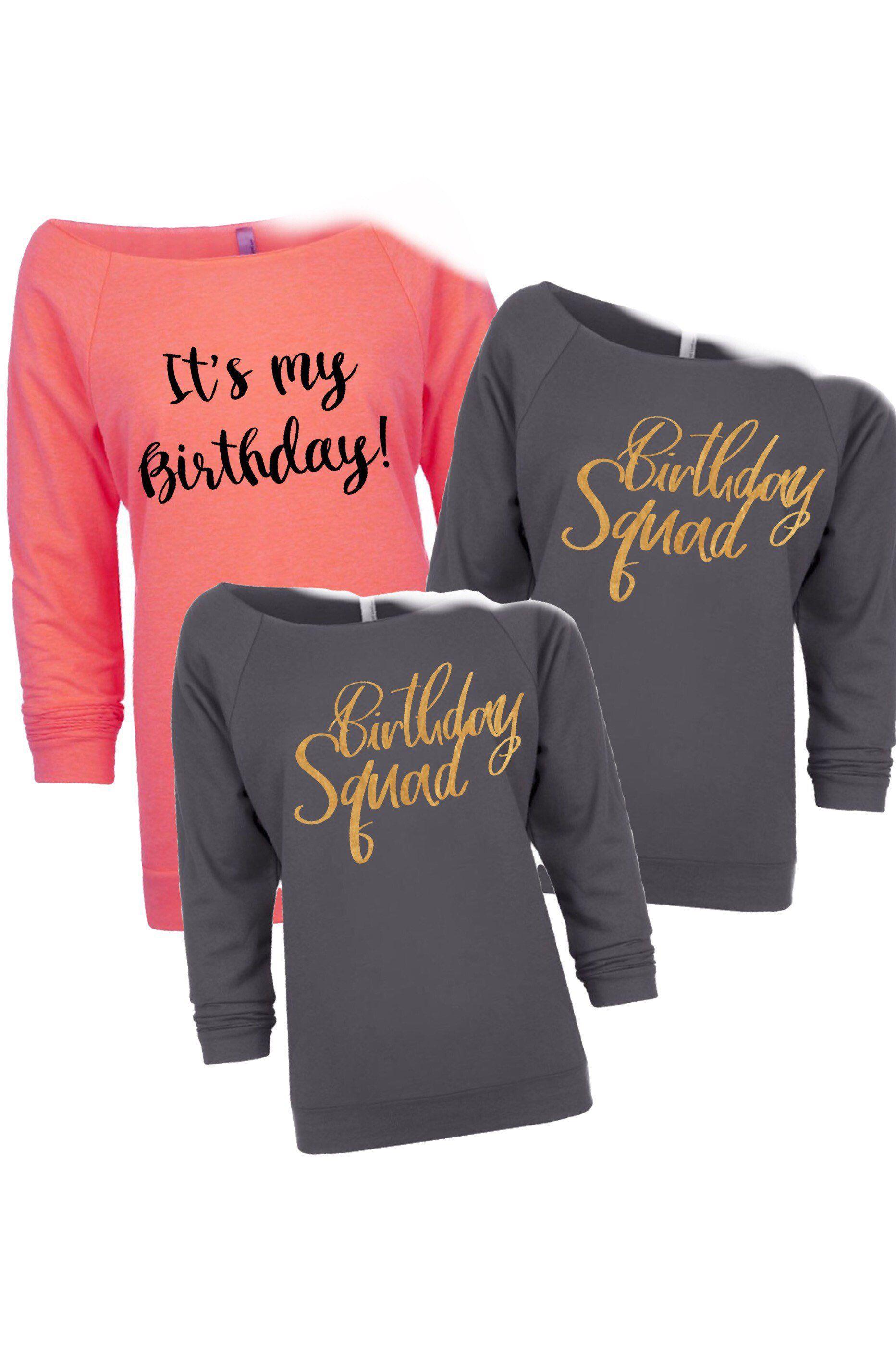 Birthday Shirt Squad Shirts Party Trip Girl