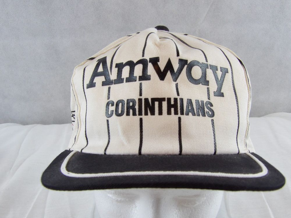 Amway Corinthians Striped Basketball Baseball Cap Hat Adjustable  #Unbranded #BaseballCap