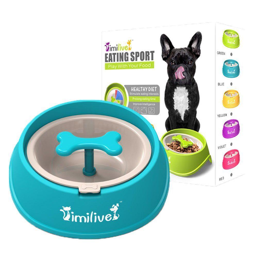 Amazon Com Pet Show Rotatable Bone Pet Slow Feeder Bowls For Dogs