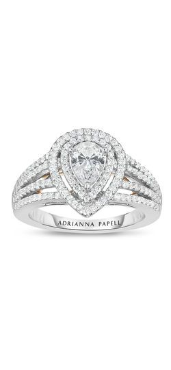 Pear Diamond Engagement Ring By Adrianna Papell It At Zales Outlets