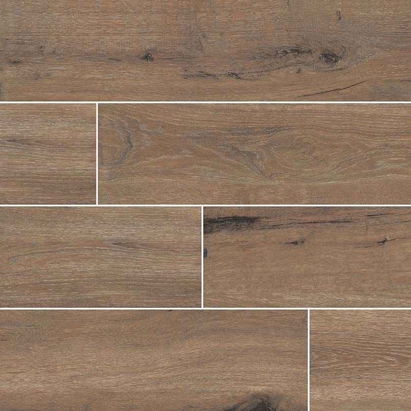 This Cafe Porcelain Tile Has A Great Wood Finish And Texture To It That Could Help Make A High Traffic Area Seem More Porcelain Flooring Tile Floor Flooring