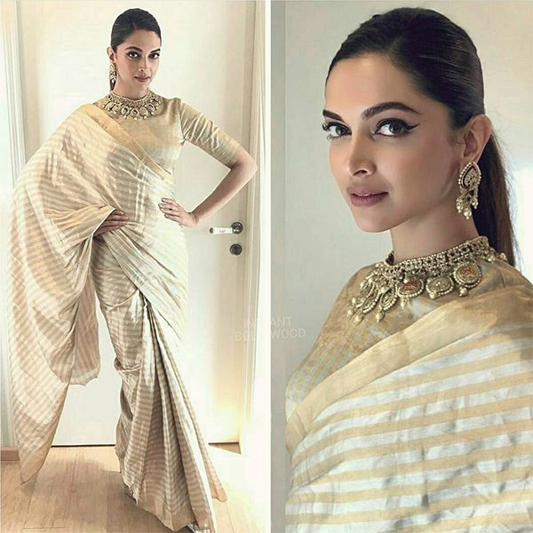 68f502ee1f3 Fashion Pick of the Day: Not just as Padmavati, Deepika Padukone keeps it  charming and royal in reality too