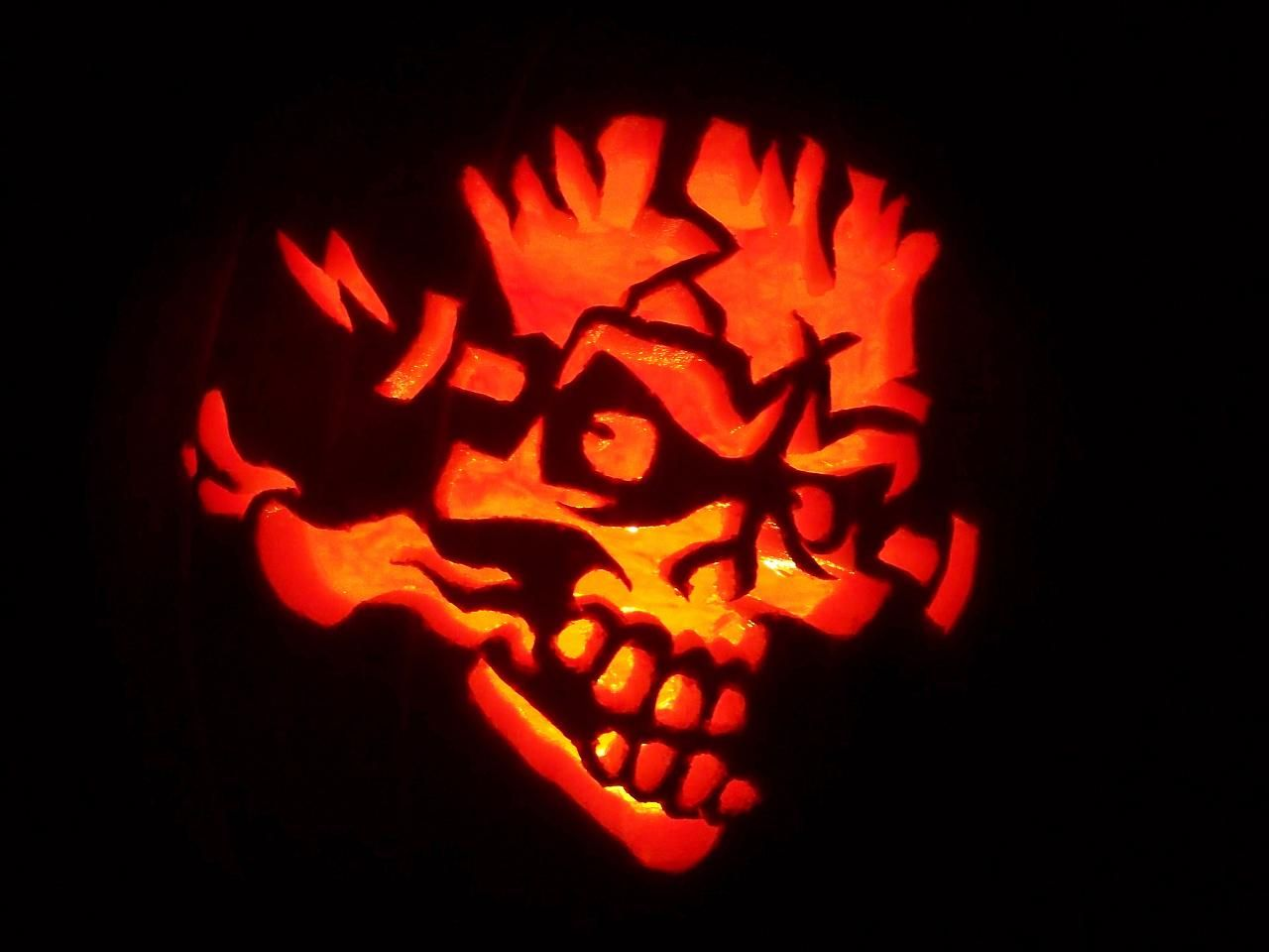 free skull pumpkin pattern - Google Search   Halloween   Pinterest ...