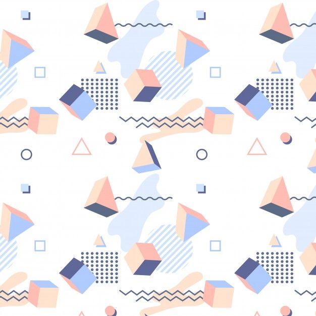 Decorative memphis pattern Free Vector