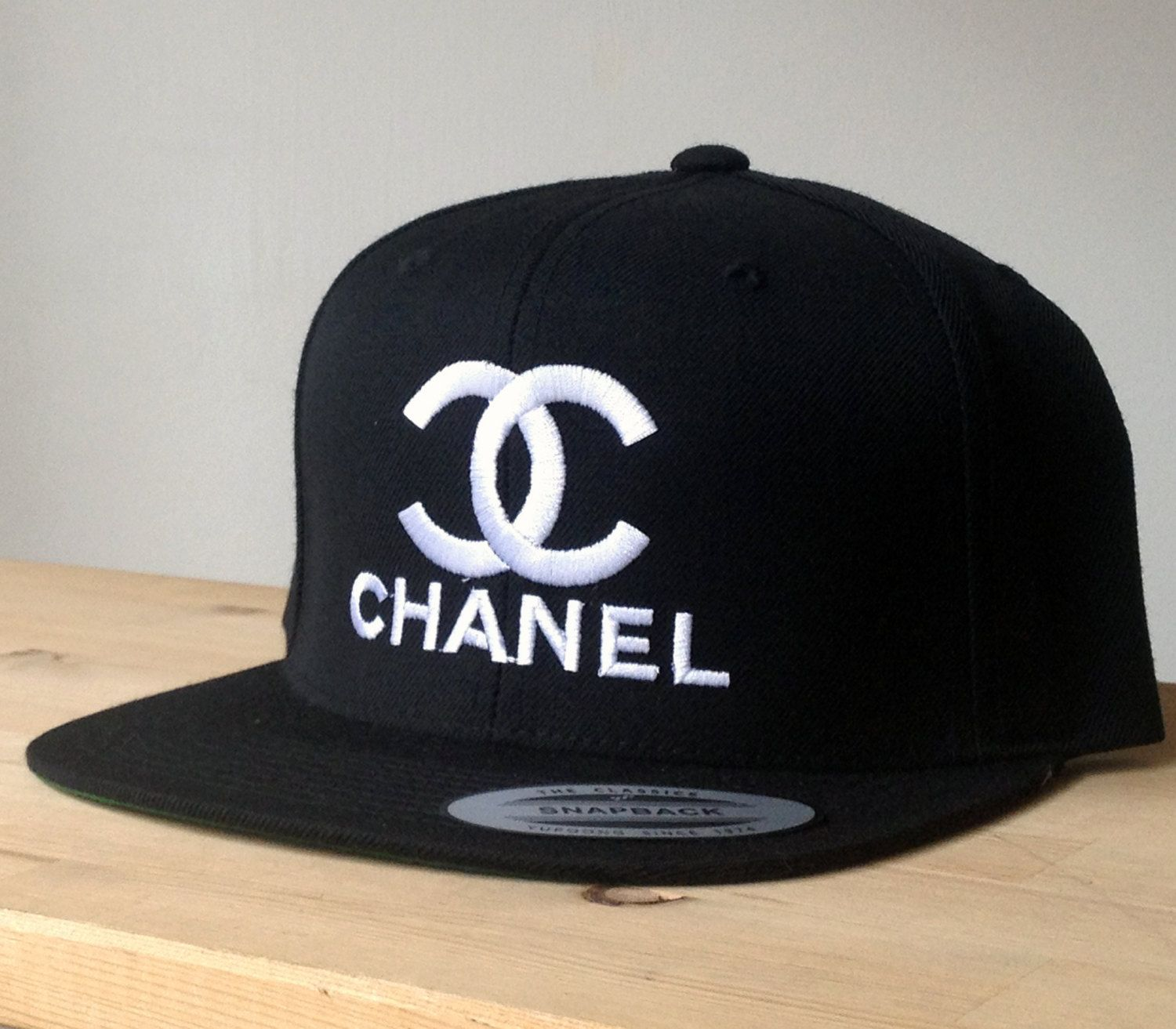 Chanel SnapBack Cap with Custom Embroidered Logo. Made by Snappp ... 6a508512039