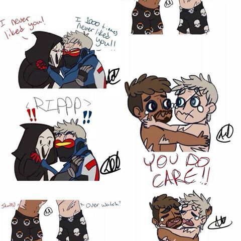 Reaper X Soldier 76 Cute With Images Overwatch Funny