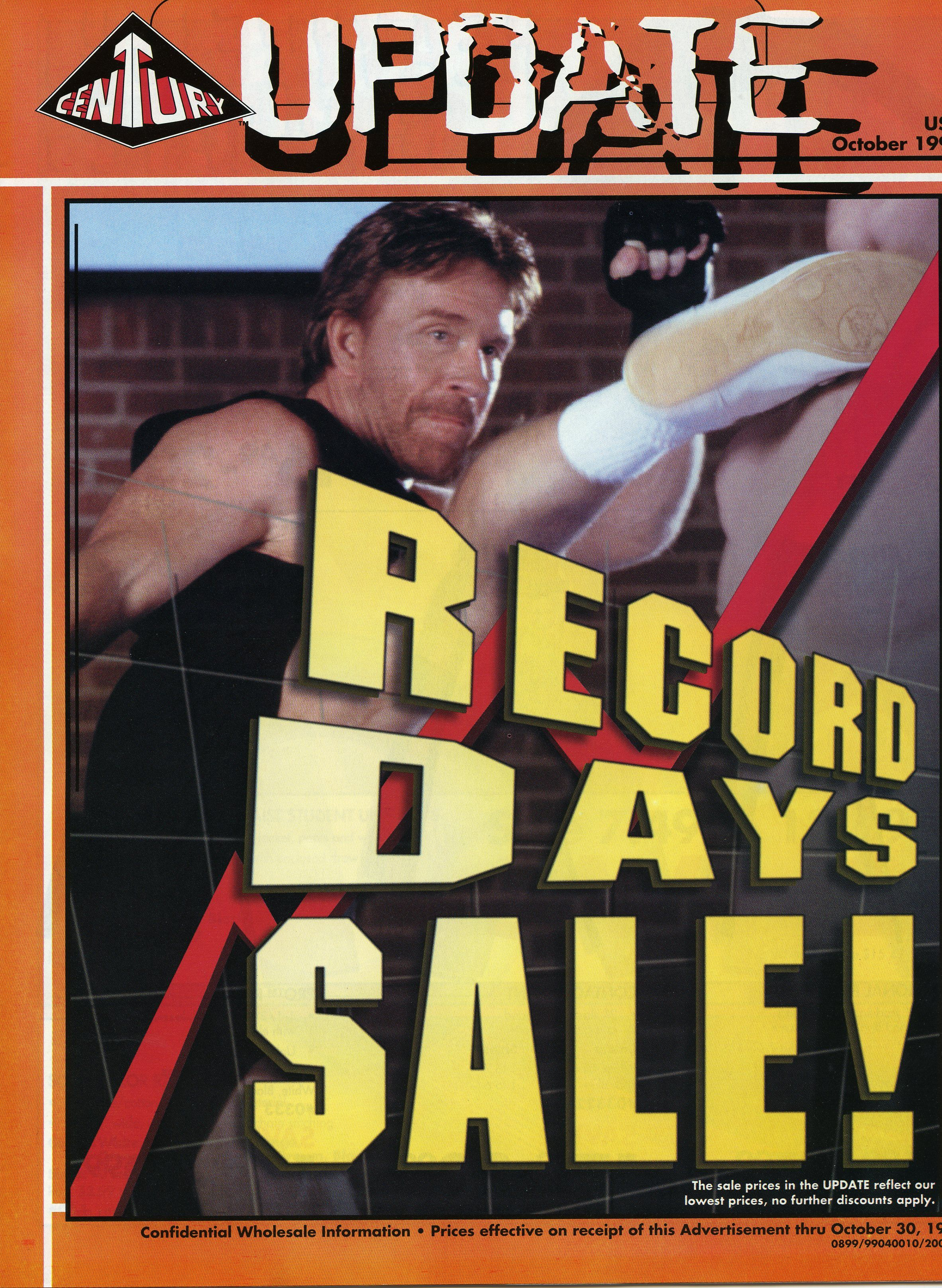 Throwback sale flier from Century Martial Arts featuring