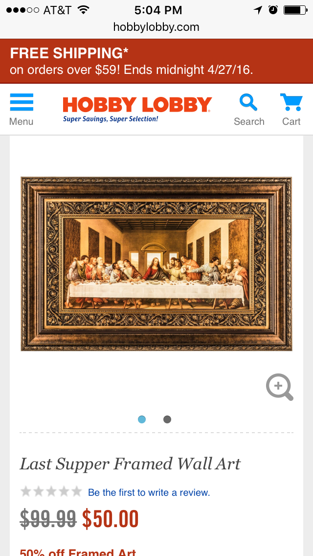 Hobby Lobby Last Supper Last Supper Frames On Wall Framed Art
