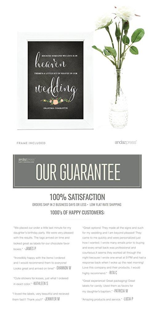 Andaz Press Personalized Wedding Framed Party Signs, Chalkboard ...
