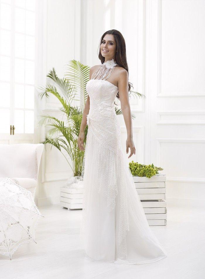 modelo geraldine, 1.290 €. #vestidosdenovia #vertizegala #bohème