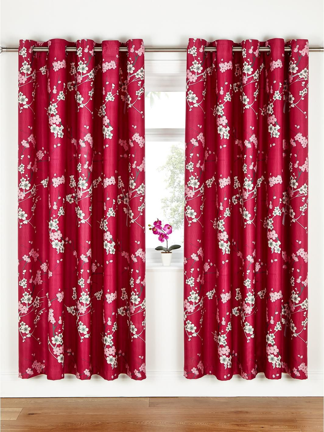 Cherry Blossom Eyelet Curtains, http://www.littlewoods.com/fearne ...