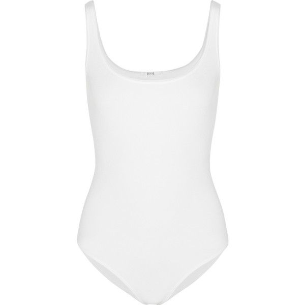 Wolford Jamaika stretch-jersey bodysuit (1.195 NOK) ❤ liked on Polyvore featuring intimates, shapewear, bodysuit, tops, underwear, body, lingerie and white