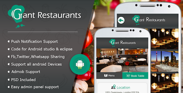 Food Delivery System for Restaurant with backend Android