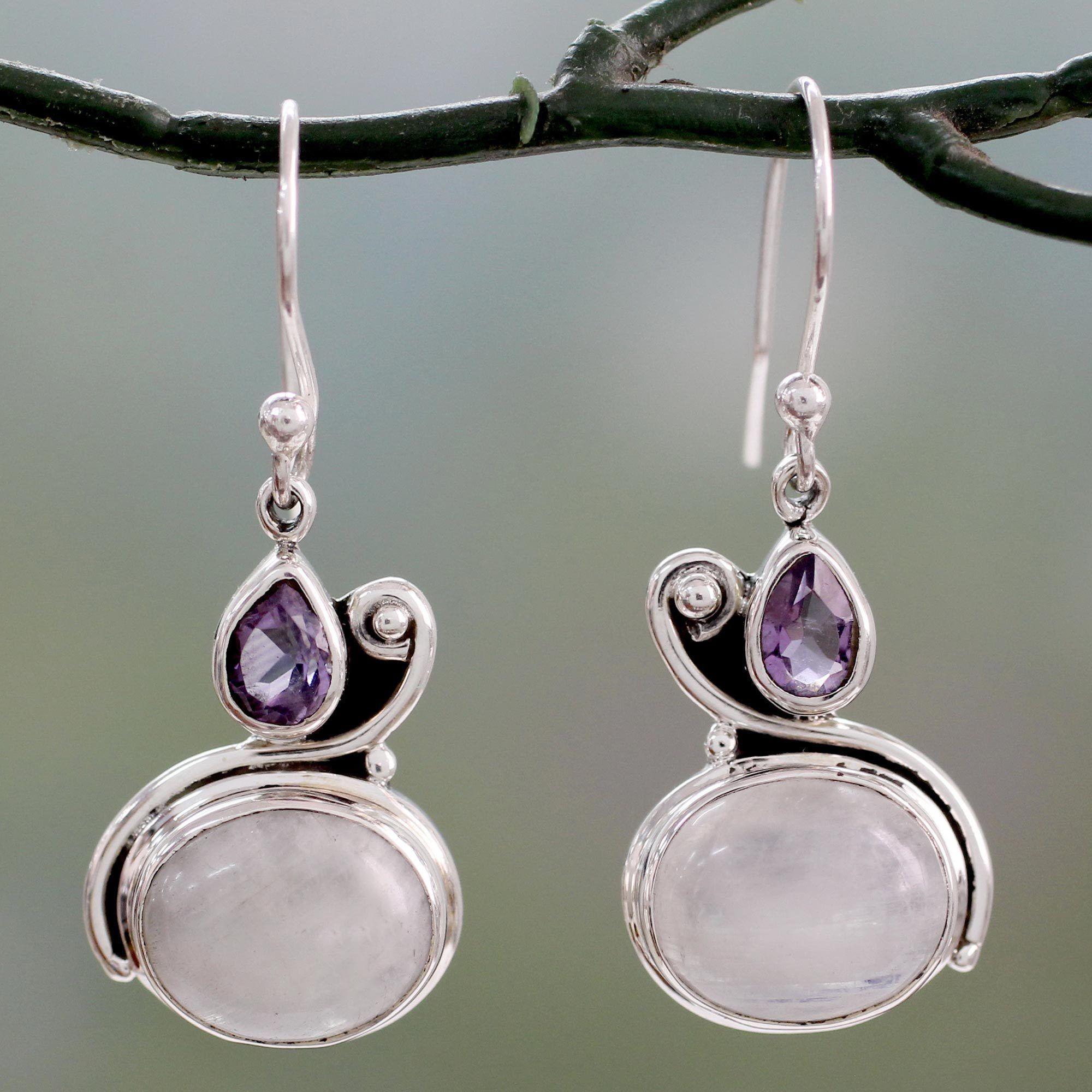 Novica Chrysocolla dangle earrings, Sinuous Song