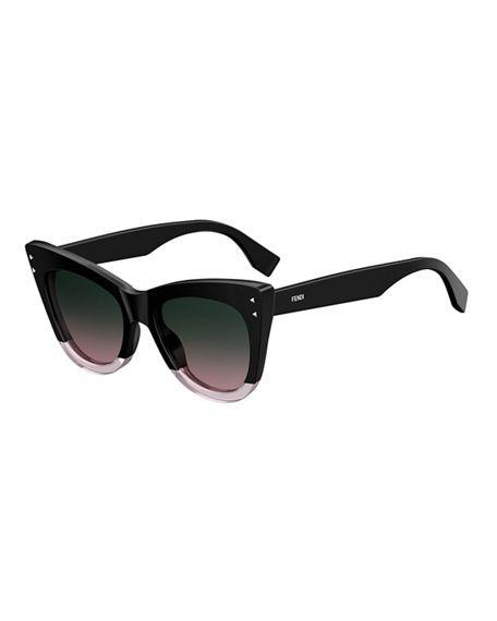 b4b35e8ba7 FENDI Two-Tone Acetate Cat-Eye Sunglasses