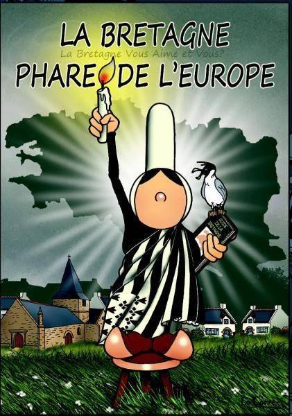 La Bretonne éclaire la France. www.leclosdumenallen.com | Humour bretagne, Bretagne, Bretagne france