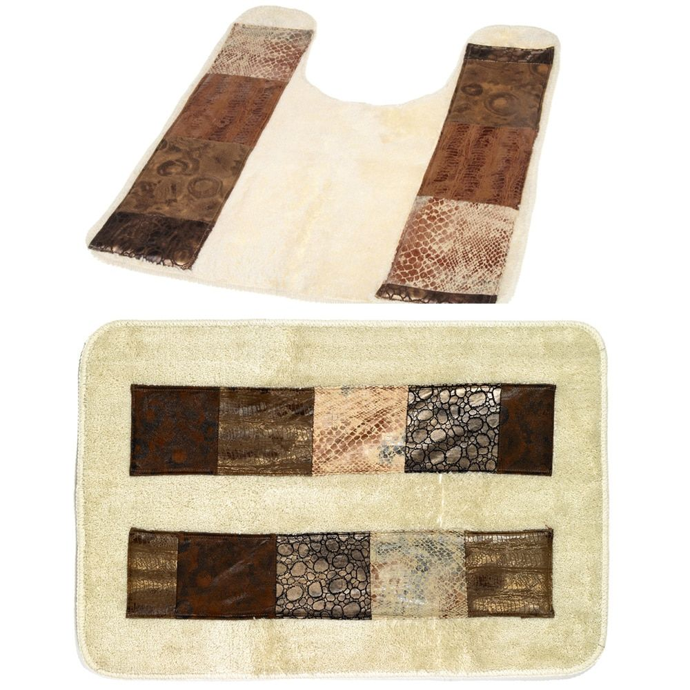 N Animal Print Faux Leather Bath and Contour Rugs | Products ...