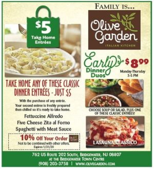 Coupon Olive Garden Olive Garden Coupons Olive Gardens Dinner Entrees