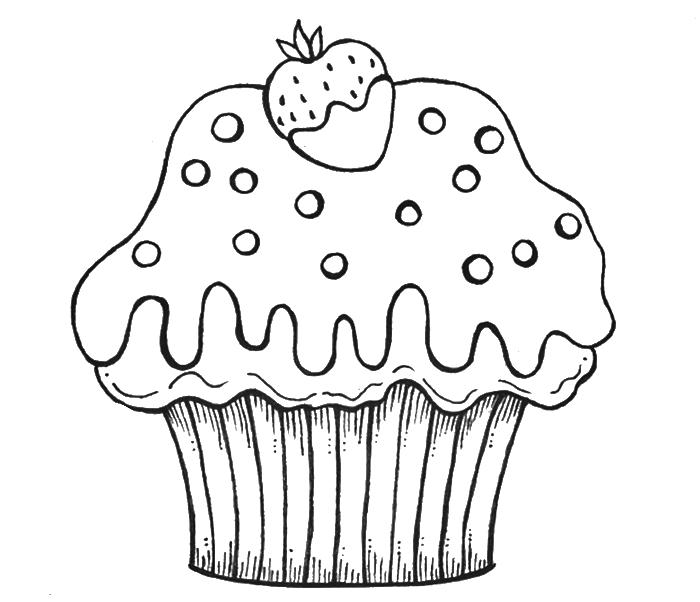 ba da web desenhos riscos de cupcakes para colorir pintar e imprimir