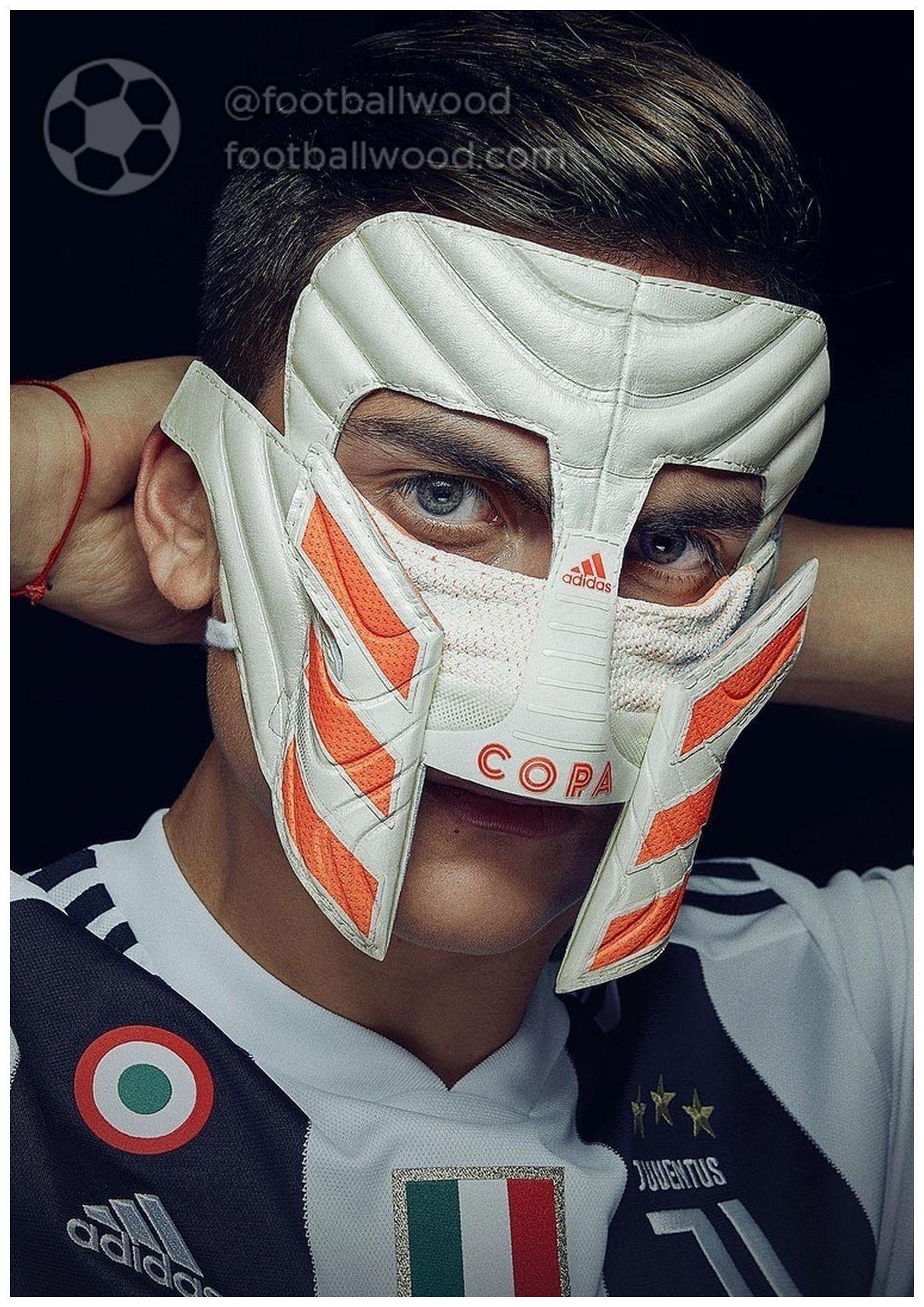 Adidas Made A Gladiator Mask For Dybala Perpetuating His Famous Celebration Dybala Adidas Adidas Football Juventus Soccer Ronaldo Juventus