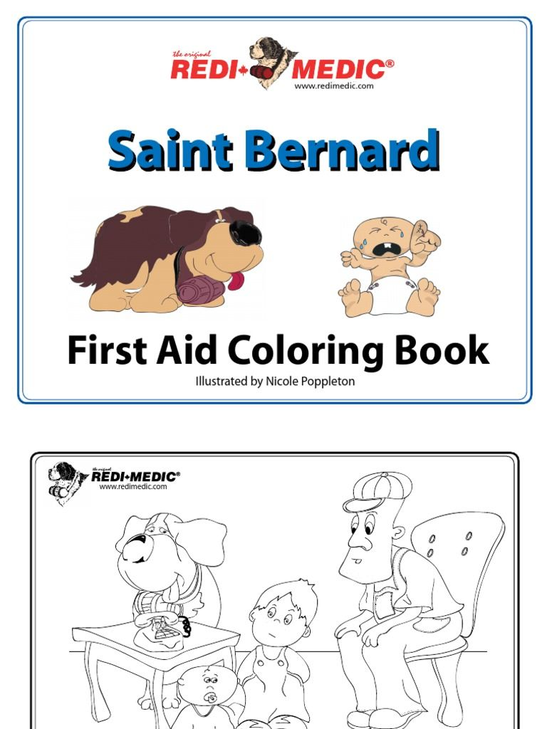 Free First Aid Coloring Book. Free printable pages. Download this ...