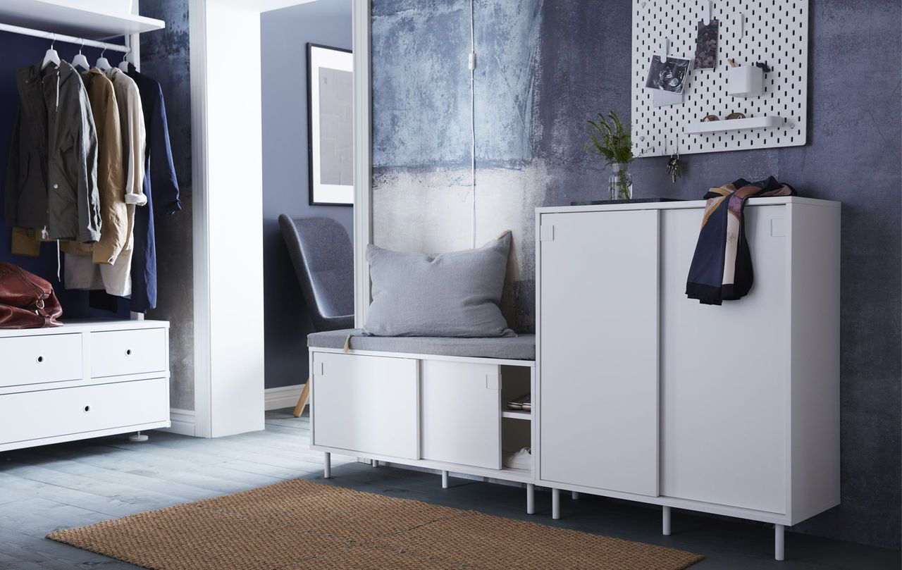 Hallway storage with sliding doors  Looking for smart storage solutions for your small hallway IKEA