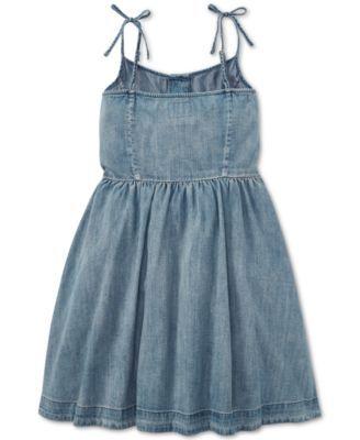 e5004ed9be5 Polo Ralph Lauren Big Girls Buttoned Cotton Denim Dress - Gina Wash ...