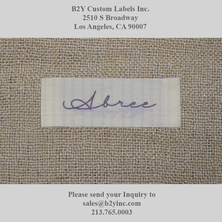 Abree 57mm X 20mm Printed On Natural Cotton End Fold B2y B2ylabel B2ycustomlabels Personalbranding Customdesign Woven Ma Custom Labels Elegant Fashion Custom