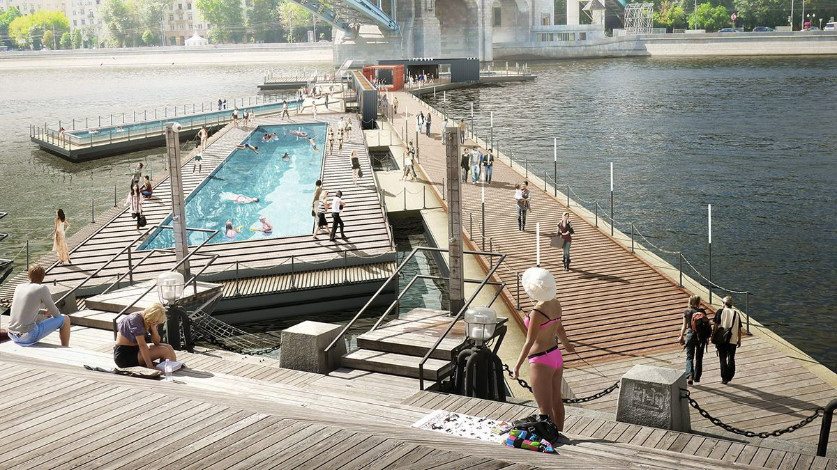 100architects Suprematist Pool In Moscow Triggers Dynamism With