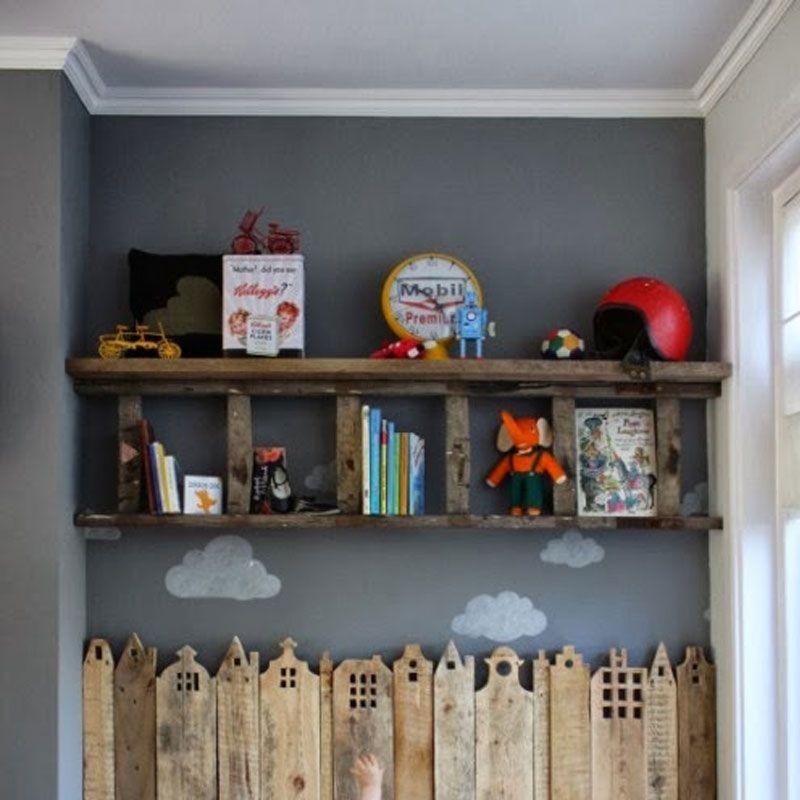 j 39 aime palette recycl e en ville au mur chambre enfant. Black Bedroom Furniture Sets. Home Design Ideas