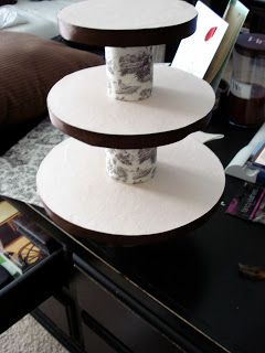 studio L: Feathering Kristin's Nest - Part 4: DIY Cupcake Tower How-to