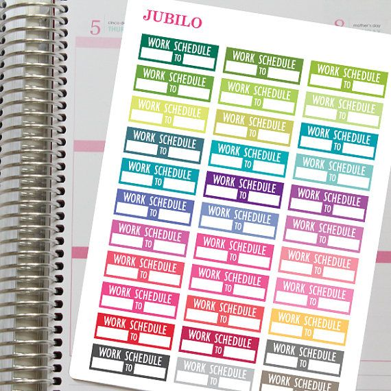 Planner Stickers Work Schedule Stickers Planners, Fit and Cas - work schedule