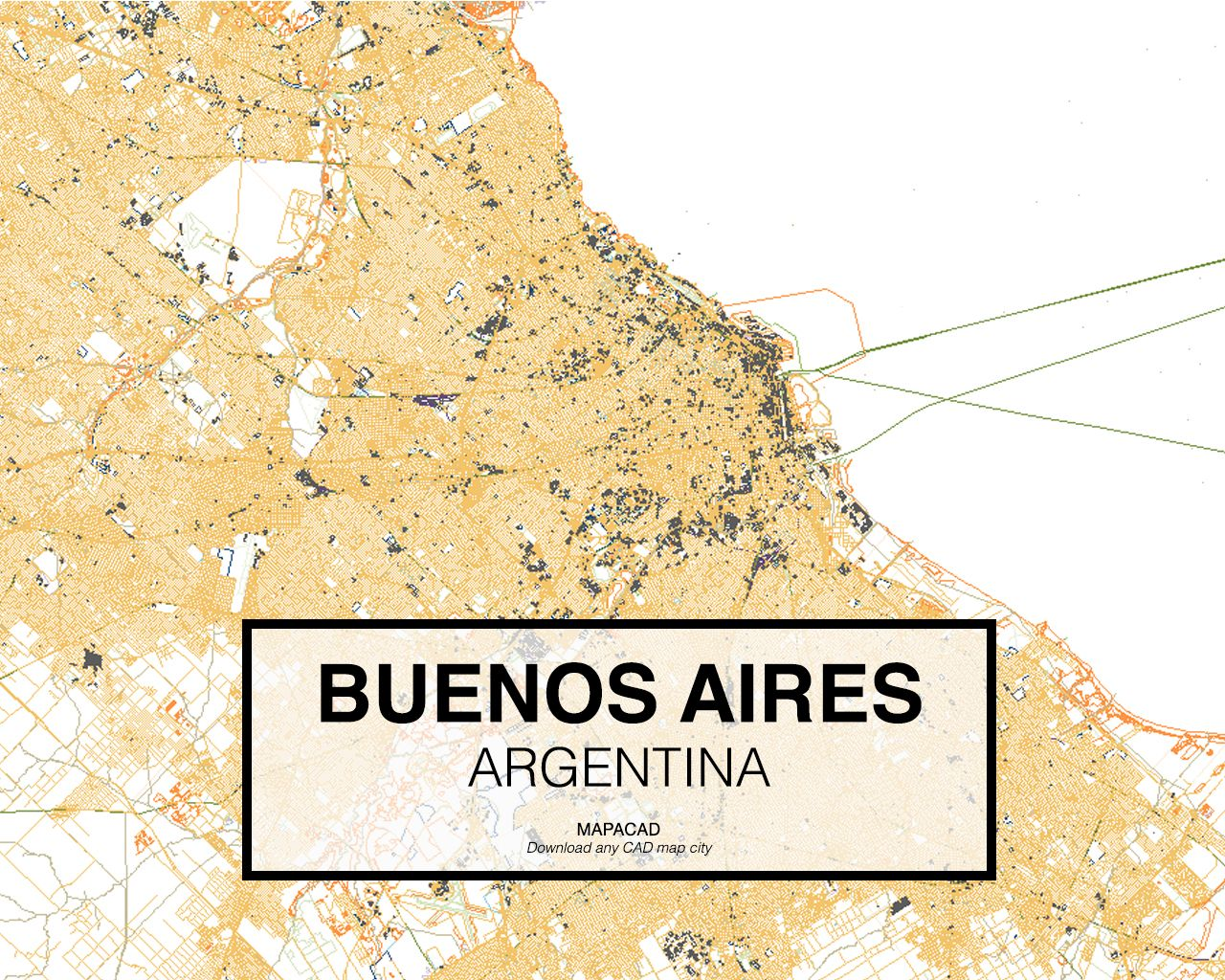 Buenos Aires Argentina Download CAD Map City In Dwg Ready To - Argentina map download