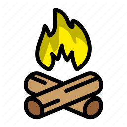 Fire Bon Camping Nature Fire Mountain Icon In Camping Bottle Outdoors Adventure Icon