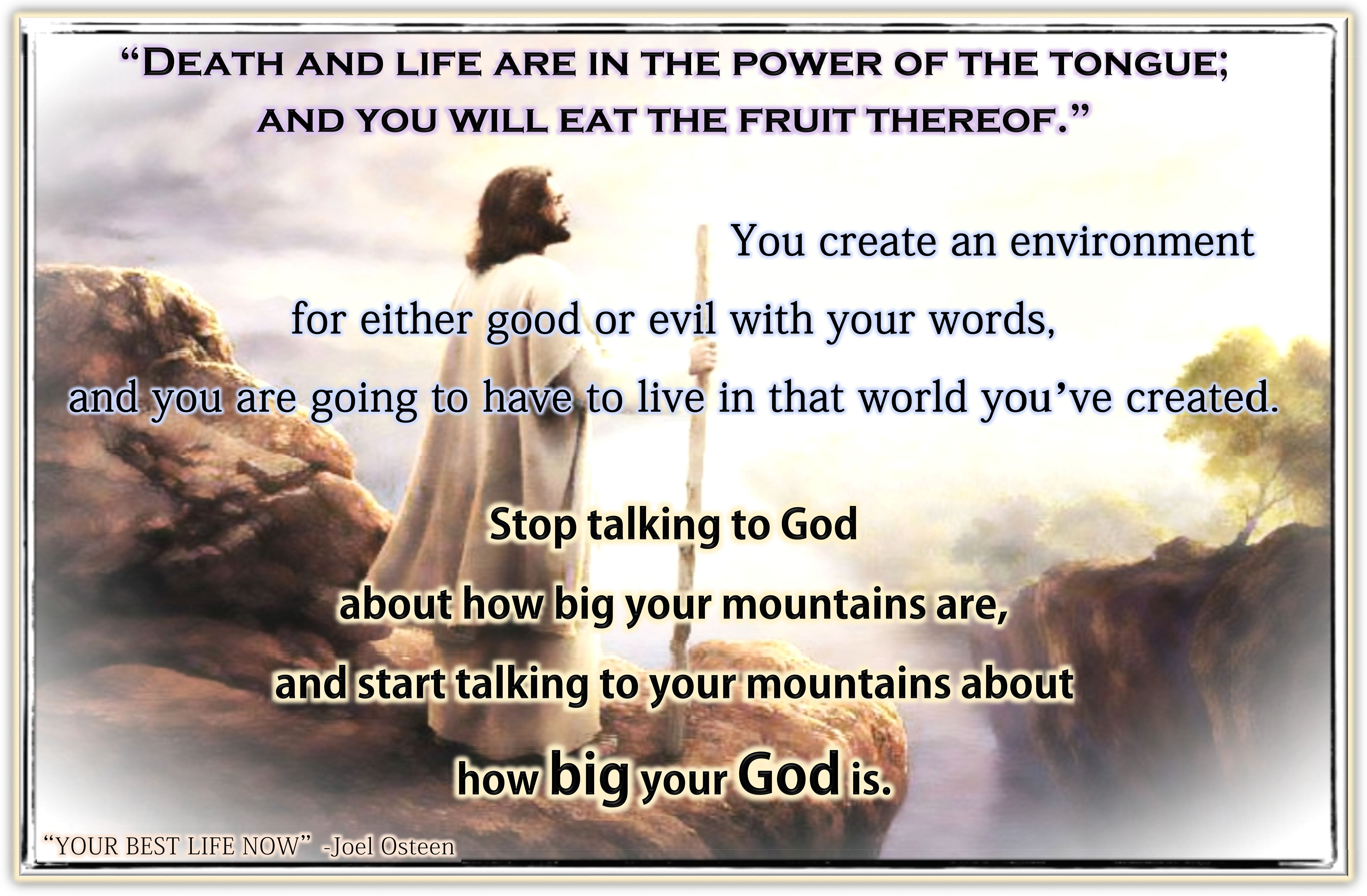 Death Life Are In The Power Of The Tongue Joel Osteen Your