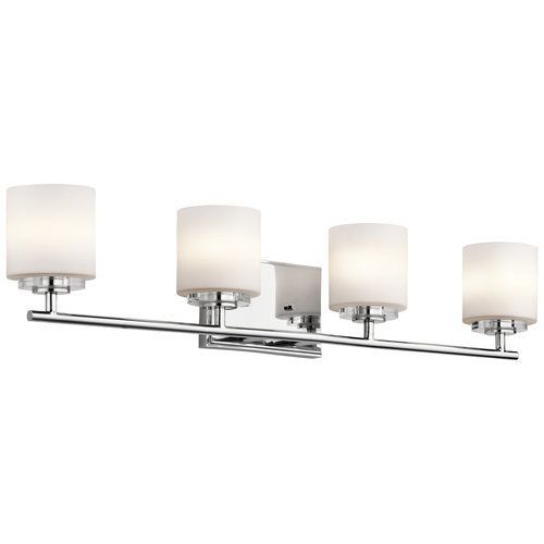 Kichler o hara 31 wide 4 bulb bathroom lighting fixture chrome kichler o hara 31 wide 4 bulb bathroom lighting fixture chrome mozeypictures Image collections